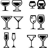 Beverage icon. Silhouette of beverage icons created in vector format stock illustration