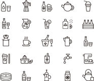 Beverage icons Royalty Free Stock Image