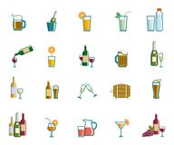Beverage icons Stock Images