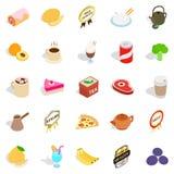 Beverage icons set, isometric style. Beverage icons set. Isometric set of 25 beverage vector icons for web isolated on white background Royalty Free Stock Image