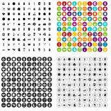 100 beverage icons set vector variant. 100 beverage icons set vector in 4 variant for any web design isolated on white Stock Photography