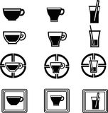 Beverage icons Royalty Free Stock Images