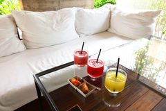 Beverage and light meal for relaxing time Royalty Free Stock Images