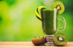 Beverage of mint and kiwi fruit Stock Photos