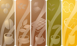 Beverage panels stock illustration
