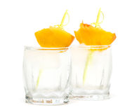 Beverage with peach Royalty Free Stock Photo