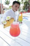 Beverage at pool Stock Images