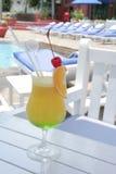 Beverage at pool Royalty Free Stock Photo