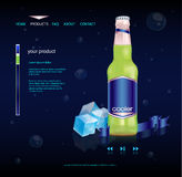 Beverage product website Royalty Free Stock Image