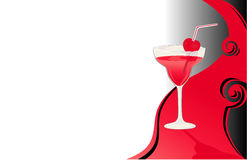 Beverage red card Stock Photo