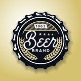 Beverage screw top designed in vintage style, vector illustration. Royalty Free Stock Photography