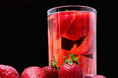 Beverage with strawberries Stock Photos