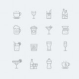 Beverage thin line symbol icon Stock Photo
