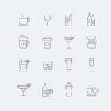 Beverage thin line symbol icon Stock Photo