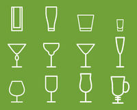 Beverage vector thin line symbol icon. Cocktails Stock Photo