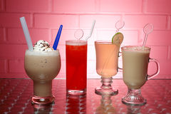 Beverages. Different types of the beverages Stock Image