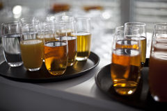 Beverages buffet breakfast Stock Photography