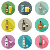 Beverages and drinks icons. Royalty Free Stock Photography