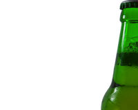 Beverages, green beer bottle Stock Photography