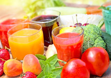 Beverages - Healthy drinks Stock Images