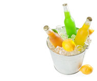 Beverages in ice Stock Image