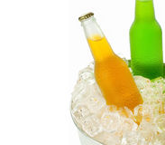 Beverages in ice Royalty Free Stock Photo