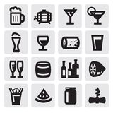 Beverages icons Royalty Free Stock Image