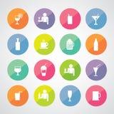 Beverages icons set stock illustration
