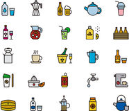 Beverages Icons Set Royalty Free Stock Photography