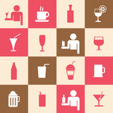 Beverages icons set Royalty Free Stock Images