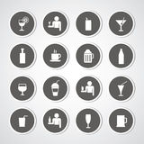 Beverages icons set Stock Photo