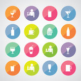 Beverages icons set Royalty Free Stock Photo
