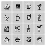 Beverages icons set Stock Photography