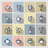 Beverages icons set Stock Image