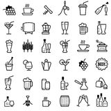 Beverages line icons Stock Images