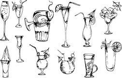 Beverages set. Vector Illustration Stock Images