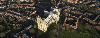 Beverley Minster, Oriëntatiepunt en toeristische attractie, royalty-vrije stock foto