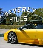 λόφοι της Beverly Καλιφόρνια Στοκ εικόνα με δικαίωμα ελεύθερης χρήσης