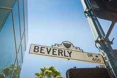 Beverly drive street sign stock photography