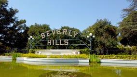 Beverly Gardens Park i Los Angeles - loppfotografi arkivfilmer