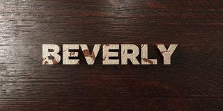 Beverly - grungy houten krantekop op Esdoorn - 3D teruggegeven royalty vrij voorraadbeeld stock illustratie