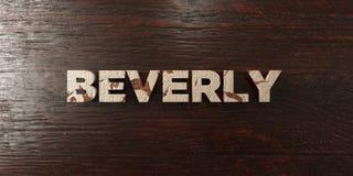Beverly - grungy trärubrik på lönn - 3D framförd fri materielbild för royalty stock illustrationer