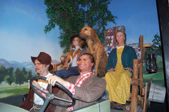 Beverly Hillbillies. The Beverly Hillbillies at the Hollywood Wax Museum in Hollywood California royalty free stock images