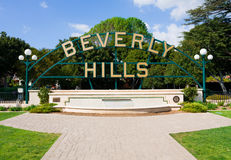 Beverly Hills. Park in Beverly Hills California Stock Photo