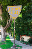 Beverly Hills. SEPTEMBER 6: The  City Limits Sign along Santa Monica Boulevard on September 6, 2011 in , California Stock Photography