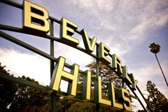 Beverly Hills. City Sign. , California USA Royalty Free Stock Images