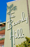 Beverly hills. The historic beverly hills hotel opened in 1912 royalty free stock photo