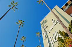Beverly hills. The historic beverly hills hotel opened in 1912 Stock Image
