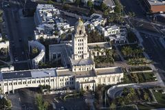 Beverly Hills City Hall Aerial Royalty Free Stock Photos