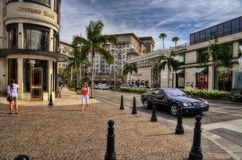 Beverly Hills, California, USA 14th of June 2010: Rodeo Drive royalty free stock photos